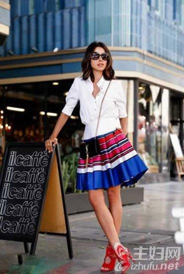 资讯生活伞裙怎么搭配上衣,伞裙的款式,春季搭配